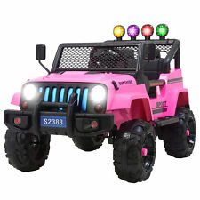 12V Kids Ride on Car Toys Electric Battery Suspension w/ Remote Control Pink