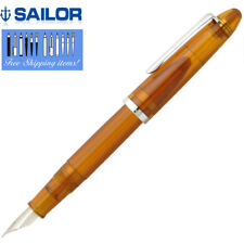 Sailor Fountain Pen Profit Junior Clear Brown Body M-F Nib 11-8022-378