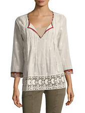 JOIE Gustavie Embroidered Cotton Blouse, XSmall