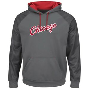 "Chicago Bulls Majestic NBA ""Armor 2"" Men's Pullover Hooded Sweatshirt - Gray"