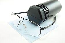 IC! Berlin Eyeglasses Frame Rudi Black Stainless Steel Germany Made 52-13-140 44