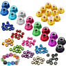 10pc M2 M3 M4 M5 Nylon Insert Self-Lock Nuts Hex Lock Flange/Unflange Alloy Nuts