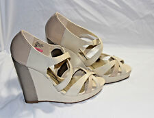 Baby Phat Size 9 M New Juno Nude Womens Wedge Sandals Shoes