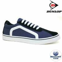MENS DUNLOP MEMORY FOAM NAVY CANVAS PLIMSOLLS PUMPS SHOES CASUAL TRAINERS 7-12