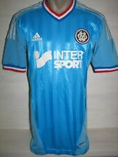 OLYMPIQUE MARSEILLE 2012-13 AWAY PLAYER ISSUE TECHFIT SHIRT JERSEY SIZE M