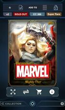Topps Marvel Collect! Heroines of Marvel GOLD Mighty Thor Award 388cc