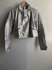 adidas Neo Women's Crop Jacket - Medium - Silver - New