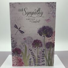 With Sympathy Card, Beautiful, silver foil, A message of comfort