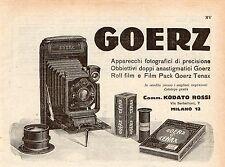 Pubblicità vintage Goerz foto fotografia film Milano advert werbung reklame A4