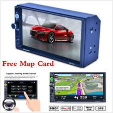 """7"""" 2 Din HD Car GPS Navigation MP5 MP3 Radio Player RDS Bluetooth With Free Map"""