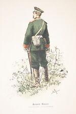 ARMEE RUSSE-LIEUTENANT D'INFANTERIE GRAVURE COULEURS 1890-R915