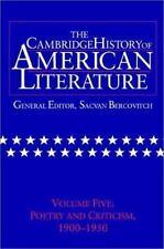 The Cambridge History of American Literature: Volume 5-ExLibrary