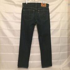 Levi's 65504 skinny straight jeans dark blue stretch denim 34 x34 Actual 32 x 32