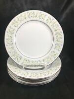 Vintage CHRISTINE Porcelain Daisy Pattern Set of 5 Side Plates