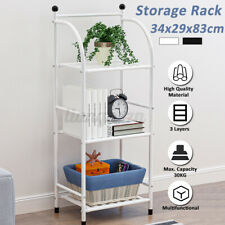 3 Tier Storage Holder Rack Organiser Office Kitchen Bathroom Display Shelf