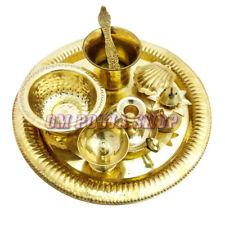 Arpan Offering Pooja Thali in Brass Festival Puja Hindu Plate Set Om Pooja Shop