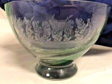 Disney Snow White & Seven Dwarfs HTF Caithness Scotland Glass Bowl