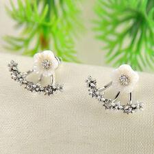 20 Pairs Elegant Crystal Rhinestone Ear Stud Daisy Flower Earrings Women Jewelry