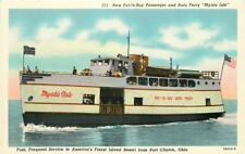 Ackley Auto Ferry 1940s PORT CLINTON OHIO Put in Bay Passenger Teich 3146