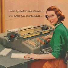 1950s National Cash Register Accounting Machine Print Ad 8 x 11 Full Color NCR