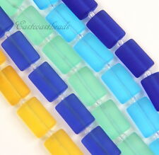 Rectangle Pillow Beads,14x10m, With Matte Finish, 5 Strands Bargain Buy, 30 Pcs