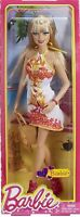 Barbie FASHIONISTAS BARBIE Doll BHY13 Orange & White Print Dress 2013 Mattel