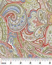 Benartex Avignon by Michele D'Amore 4423 99 Multi Paisley -  Cotton Fabric