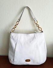 Micheal Kors Hallie Large White Shoulder Bag