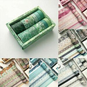 12 Rolls Washi Tape Decorative Scrapbooking DIY Sticker Set Paper Adhesive C#