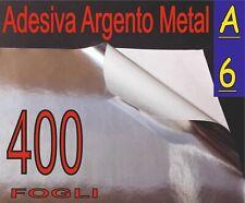 400 F A6 10,5X14,8 ADESIVO ALLUMINIO ARGENTO ETICHETTE STAMPANTE LASER PLOTTER