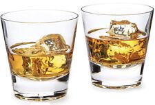 Scotch Whiskey Glasses Set for Men - Set of 2 Drinking Glasses - 10 oz- Premium