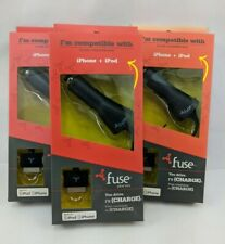 Lot of 3 Fuse iPhone iPod Auto Travel Charger Universal (H6)