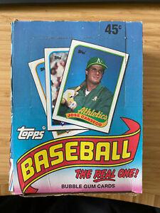 1989 Topps Baseball Wax Box - 36 Unopened Packs