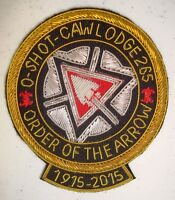 OA O SHOT CAW 265 S FL FLAP 100TH CENTENNIAL NOAC 2015 BLK PATCH BULLION 75 MADE