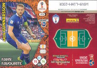 WC RUSSIA 2018 *Panini Adrenalyn-Card FANS' FAVOURITE  N.378*GUNNARSON-ISLANDA