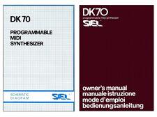SIEL DK70 Service Manual Schematic diagrams Schemi elettrici Schaltplan DK-70