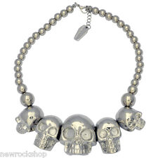 New Kreepsville 666 Skull Collection Necklace Silver