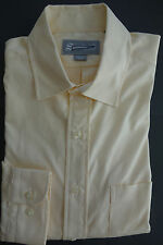 NWOT Southwick (made by Brooks Brothers) Yellow Pinpoint Spread Collar 16-34