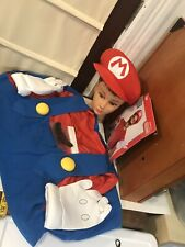 Super Mario Adult XL/XXL Costume Deluxe Halloween Hat Gloves Mustache