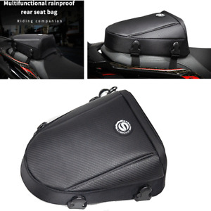 Waterproof Motorcycle Riding Tail Bag Back Seat Storage Case Touring Saddle Bag