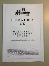 I proprietari MANUALE PER Hunter Herald 6 Multi-STUFA A COMBUSTIBILE