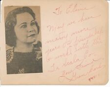 "Grace Card - autograph note signed during La Scala's 1941 ""Carmen"" in Oregon"