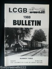 LCGB - LOCOMOTIVE CLUB OF GREAT BRITAIN BULLETIN - MARCH 9 1988