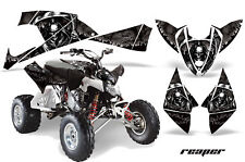 ATV Decal Graphic Kit Quad Wrap For Polaris Outlaw 450 525 2009-2012 REAPER BLK