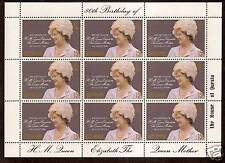 ASCENSION 1980 80th BIRTHDAY QUEEN MOTHER Sheetlet MNH