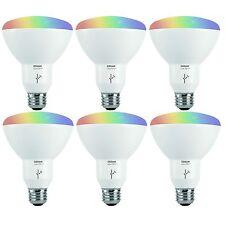 sylvania osram lightify smart home 65w br30 whitecolor led light bulb 6 pack - Sylvania Light Bulbs