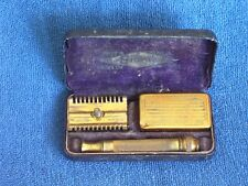 Antique Gillette Safety Razor & Accessories in Original Fitted Felt Lined Box