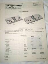 Magnavox Odyssey Game Service Manual for Model YF7010 & YF7015