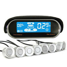 8 Parking Sensor Dual-core Double LCD Display Car Reverse Radar Alarm Kit Sale