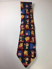 Disney Winnie The Pooh Men's Silk Neck Tie, Pre-owned